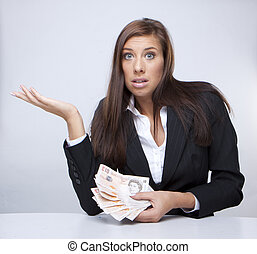 Businesswoman fighting about the money - Businesswoman...
