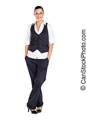 businesswoman full length portrait