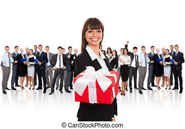 businesswoman gift box