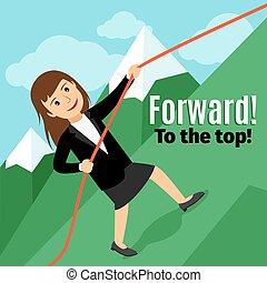 Businesswoman going forward