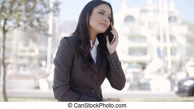 Businesswoman Having A Conversation