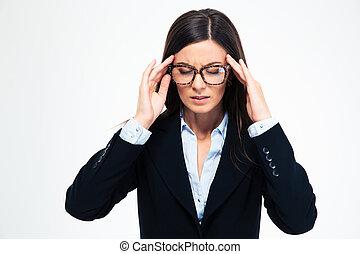 Businesswoman having headache