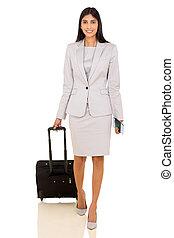 businesswoman, het reizen, lucht