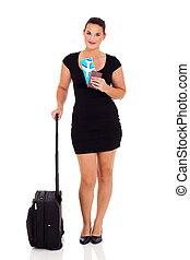 businesswoman, het reizen