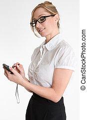 businesswoman, hos, pda