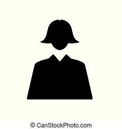 businesswoman icon- vector illustration