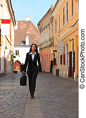 Businesswoman in a city street