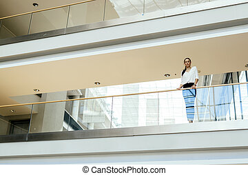 Businesswoman in a modern building