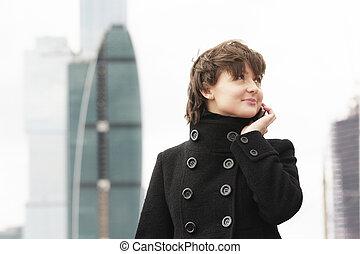Businesswoman in city