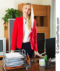 Businesswoman in office interior