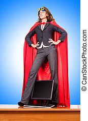 Businesswoman in superwoman concept