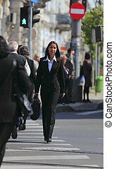 Businesswoman in the city