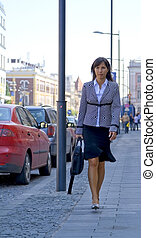 Businesswoman in the street
