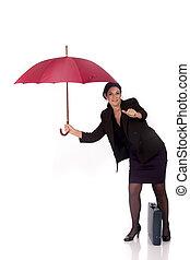 Businesswoman insurance agent