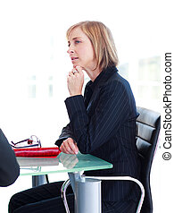 Businesswoman interacting in a meeting