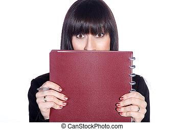 businesswoman is shy