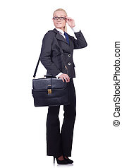 Businesswoman isolated on the white