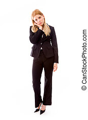 Businesswoman looking disappointed - Young adult caucasian...