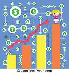 businesswoman making money - businesswoman making money...