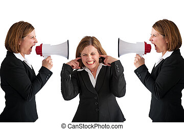 businesswoman  megaphone