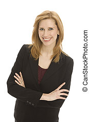 businesswoman, met, vertrouwen