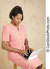 Businesswoman on 3G Network