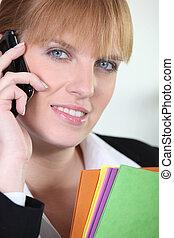 Businesswoman on a cellphone