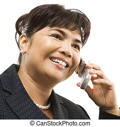 Businesswoman on cellphone.
