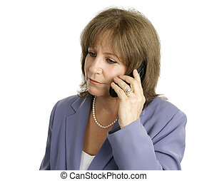 Businesswoman on Cellphone - Listening