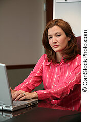 Businesswoman on Computer