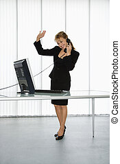 Businesswoman on phone.