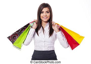 Businesswoman on shopping