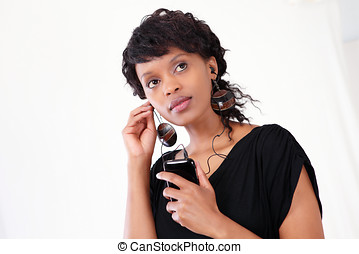 Businesswoman on smart phone