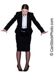 Businesswoman on the edge