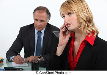 Businesswoman on the phone in office