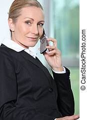 Businesswoman on the phone.