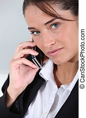 Businesswoman on the phone