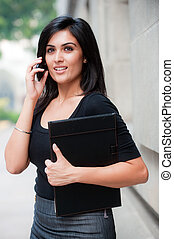 Businesswoman Outside