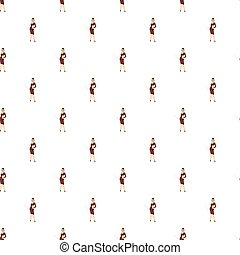 Businesswoman pattern seamless