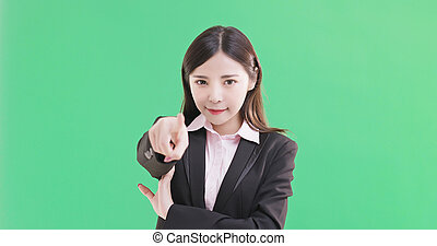 businesswoman pointing you