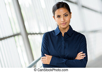 businesswoman portrait with arms folded