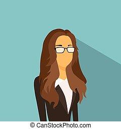 Businesswoman Profile Icon Avatar Fashion Style Female