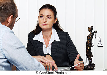 businesswoman reading a letter in the office. message from the lawyer or tax office.