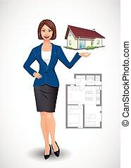 Businesswoman - real estate agent concept