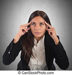 Businesswoman reflect