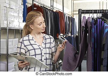 Businesswoman Running On Line Fashion Business