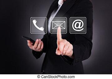 Businesswoman Sending Message Through Smart Phone