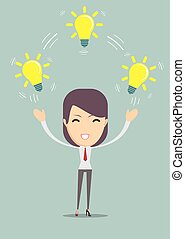 businesswoman showing she has an idea