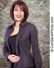 Businesswoman smile