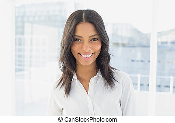Businesswoman smiling at the camera